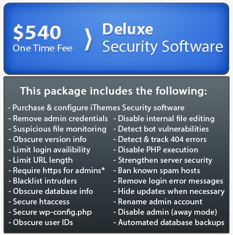 Advanced website security packages